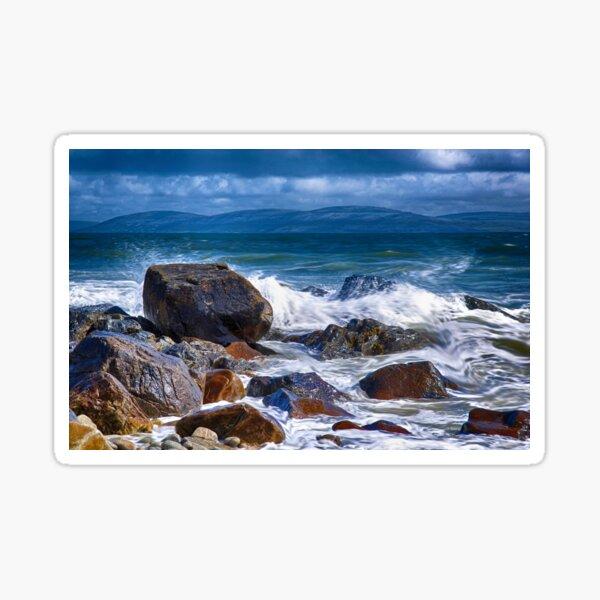 Galway Bay Waves Sticker
