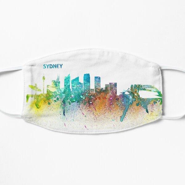 Sydney Australia Skyline Impressionistic Splash Flat Mask