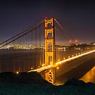 The Golden Gate Bridge from the Marin Headlands by James Watkins