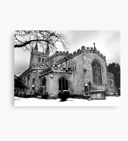 St Nicholas In The Snow. Metal Print