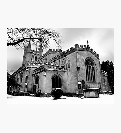 St Nicholas In The Snow. Photographic Print