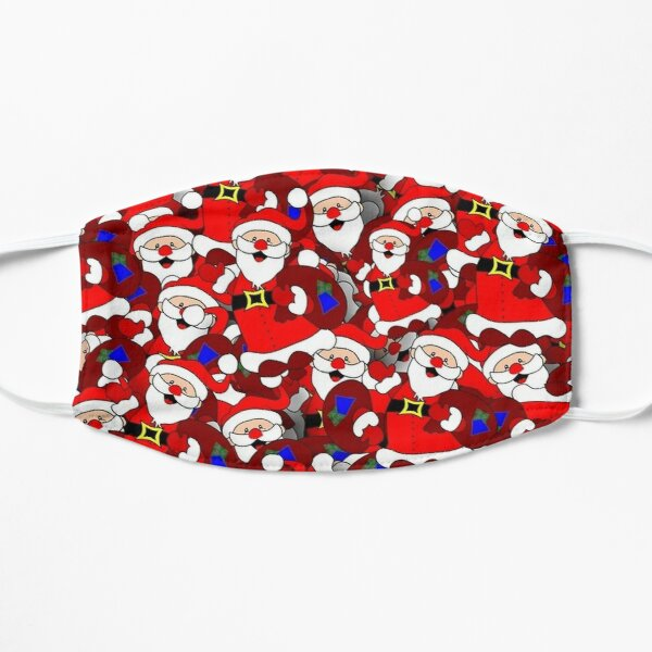 Happy Santa Claus Pattern Flat Mask