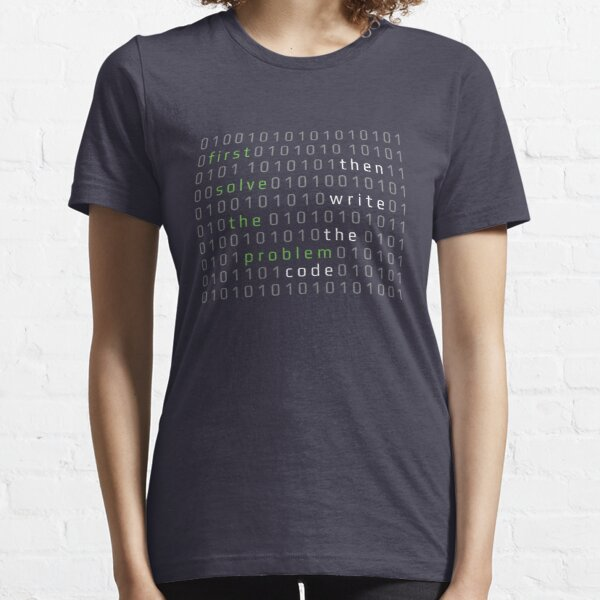 First solve the problem. Then write the code Essential T-Shirt