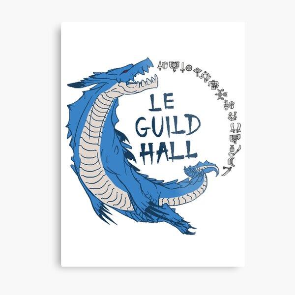 Monster Hunter Le Guild Hall-Lagiacrus Version 2 Base Colors Metal Print