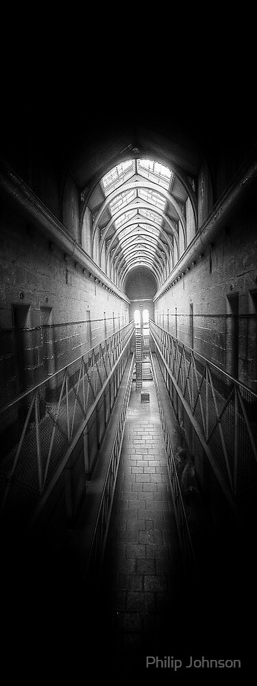 Porridge #2 (Monochrome) - Old Melbourne Gaol, Melbourne Victoria Aust. - The HDR Experience by Philip Johnson