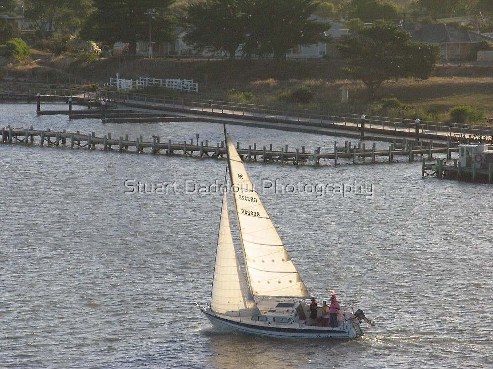 Sailing as the Sun is Setting by Stuart Daddow Photography