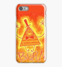 Bill Cipher - BURN!! iPhone Case/Skin