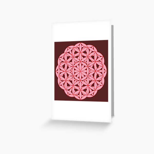 Flower of Life - Chi Correction Greeting Card