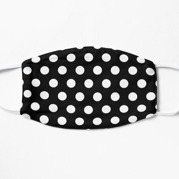 Polkadots Black and White Flat Mask