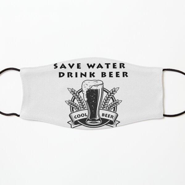 Save Water Drink beer Mascarilla para niños
