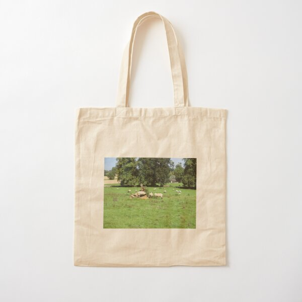 Merch #88 -- Sheep - Shot 4 (Hadrian's Wall) Cotton Tote Bag
