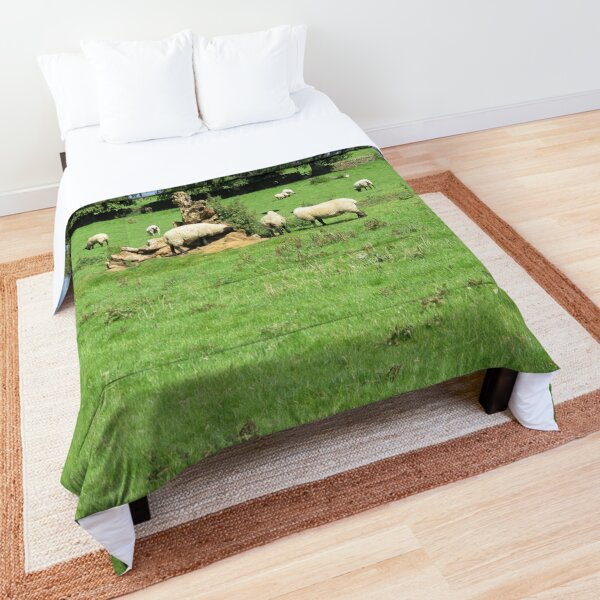 Merch #88 -- Sheep - Shot 4 (Hadrian's Wall) Comforter