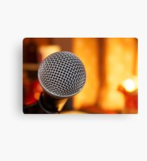 Sm58 Microphone Canvas Print