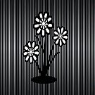 Monochrome Flowers (iPhone/iPod) by ScaleDesigns