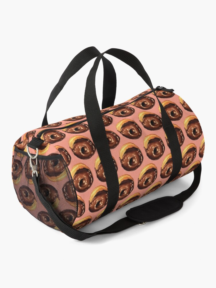 Alternate view of Chocolate Donut Pattern - Pink Duffle Bag