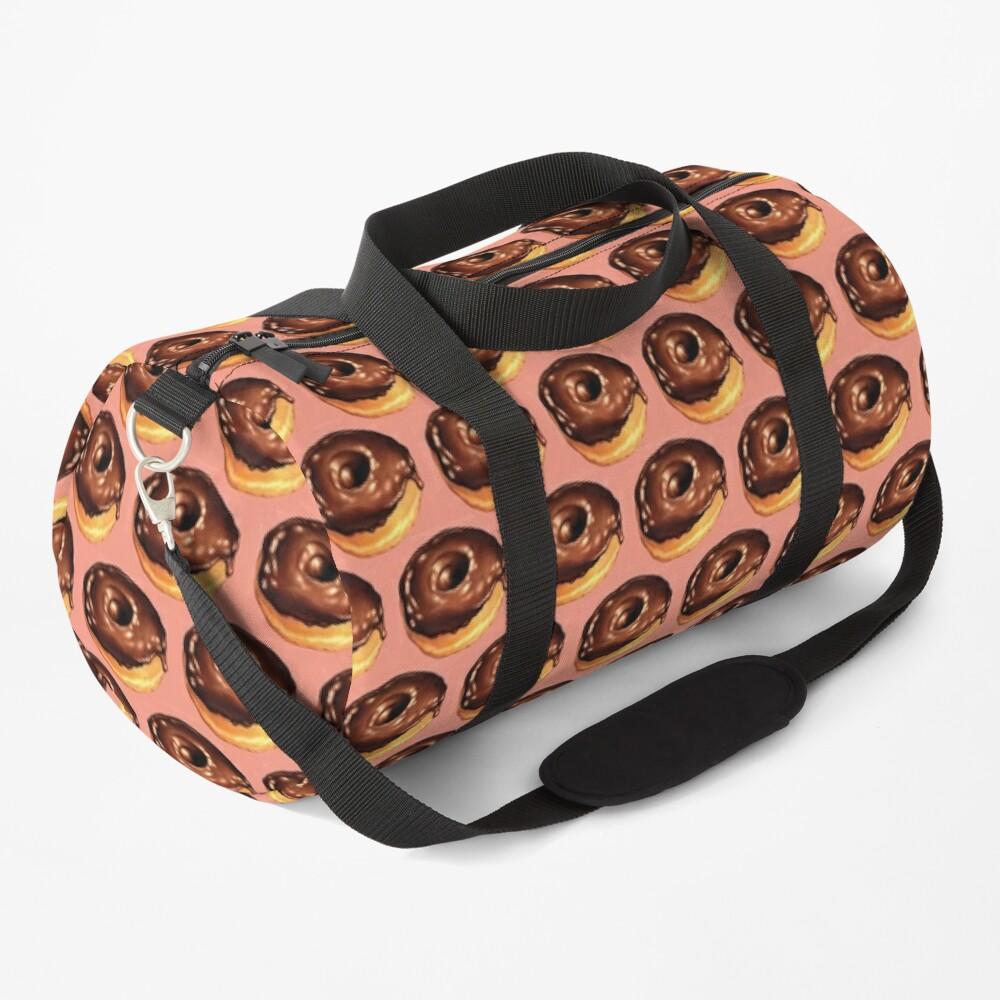 Chocolate Donut Pattern - Pink Duffle Bag