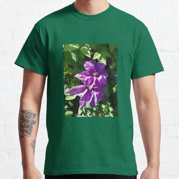 Purple clematis photograph Classic T-Shirt