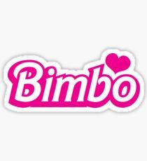 Bimbo in cute little dolly doll font Sticker