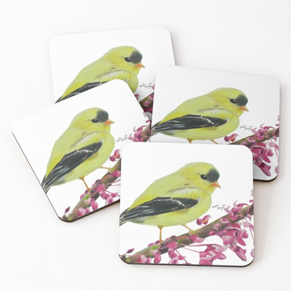 American Goldfinch Coasters (Set of 4)