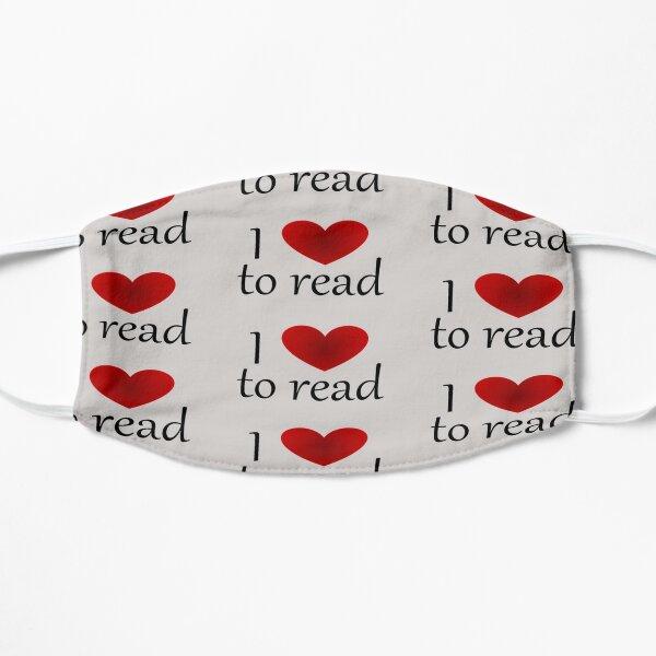 I heart to read Flat Mask