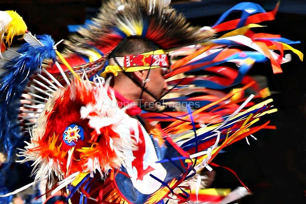 Native American Ribbon Dancer by LoneTreeImages