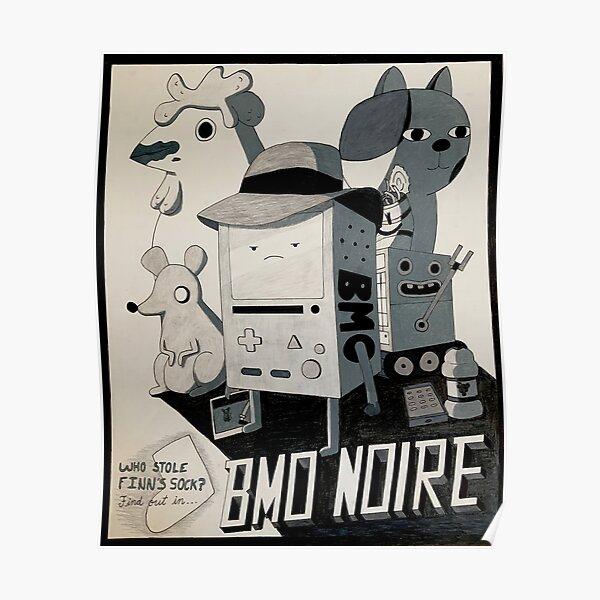 BMO Noire Adventure Time Poster
