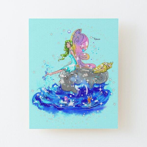 Blue Sea Mist The Seaside Fairy™ Wood Mounted Print