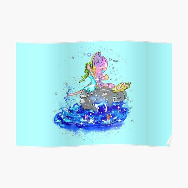 Blue Sea Mist The Seaside Fairy™ Poster