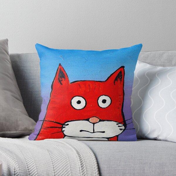 SURPRISE CAT! Throw Pillow