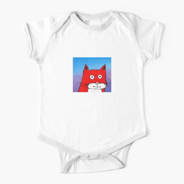 SURPRISE CAT! Short Sleeve Baby One-Piece