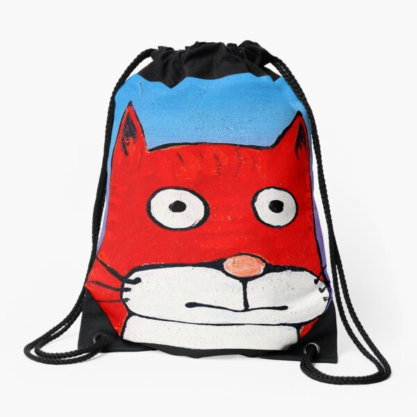 SURPRISE CAT! Drawstring Bag