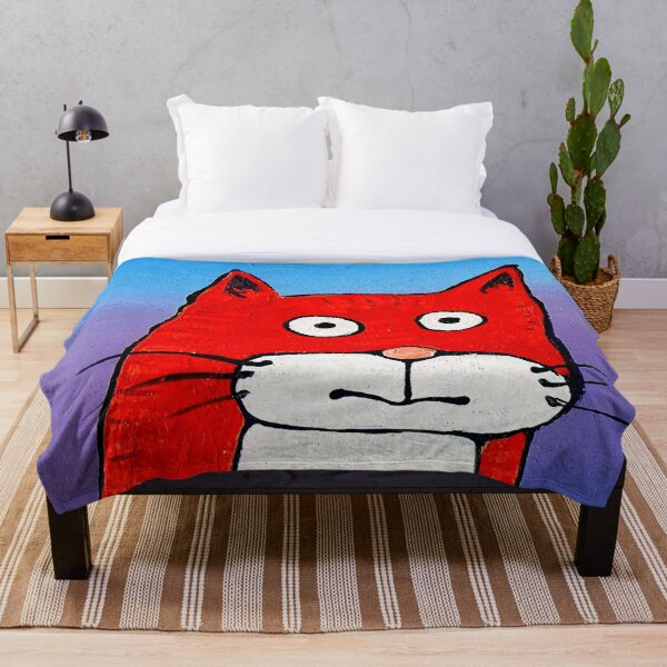 SURPRISE CAT! Throw Blanket
