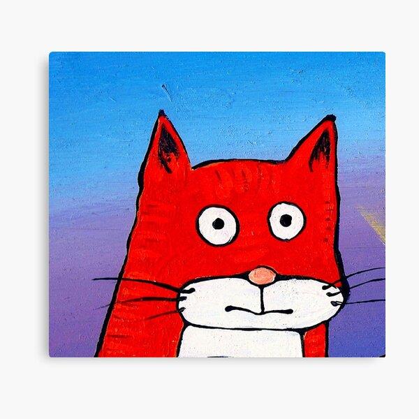 SURPRISE CAT! Canvas Print