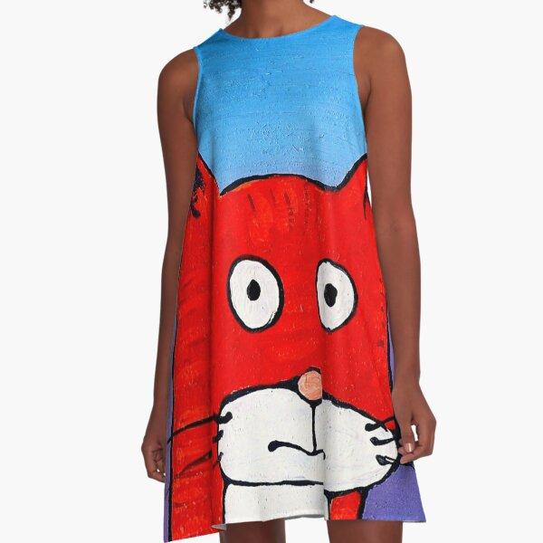 SURPRISE CAT! A-Line Dress