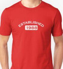 Established 1988 Unisex T-Shirt