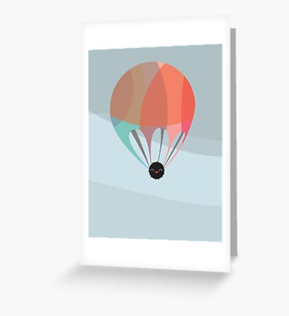 Flying Happy Dust Greeting Card