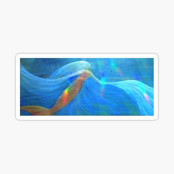 Golden Mermaid with Rainbows Sticker