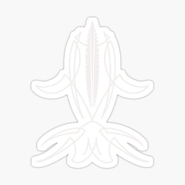 White Pinstripe Sticker