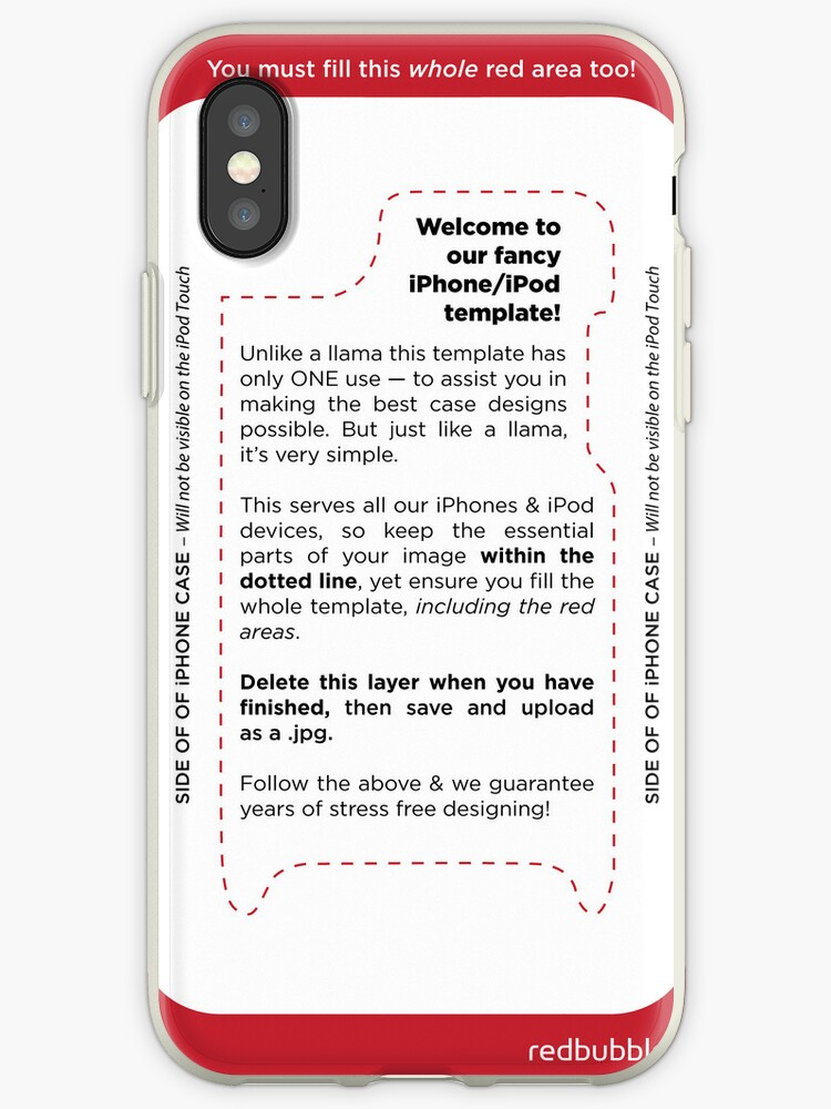 detailed look 39a48 c7b2a 'red bubble template' iPhone Case by masoney