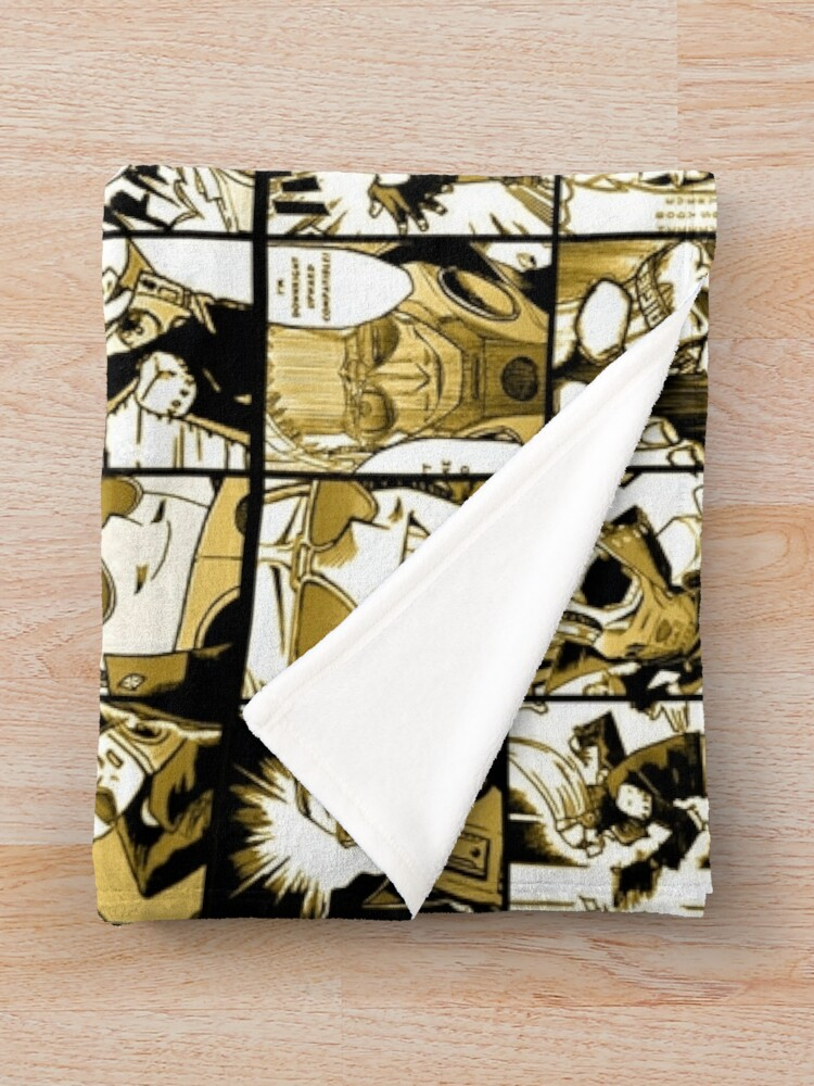 Alternate view of Present Mic (color version) - My hero academia collage  Throw Blanket