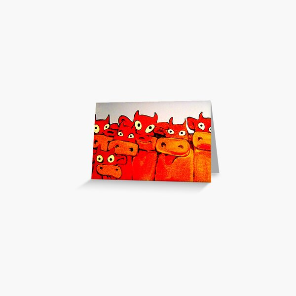 COWS GALORE Greeting Card