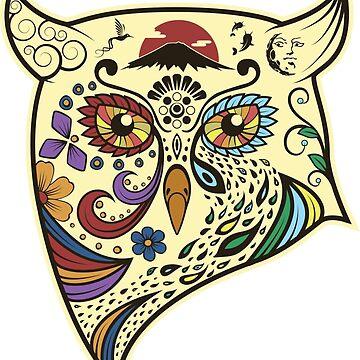 Owl Print by ecimino