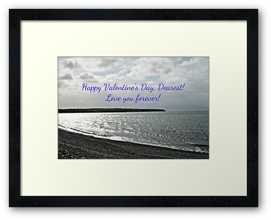 Love You Forever! Valentine's Card (Silvery Sea) by BlueMoonRose