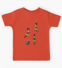 Dark Witch with Broom 2 Kids Clothes