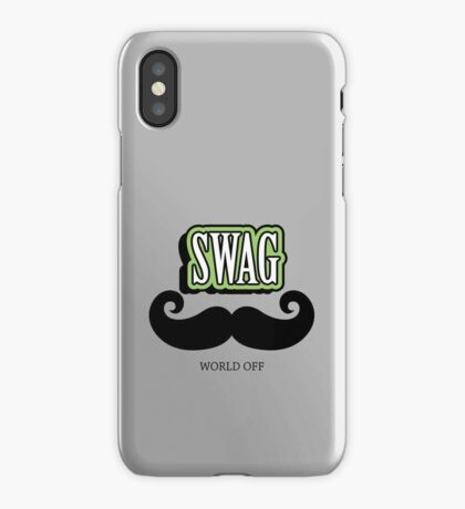 Swag a Mustache VRS2 iPhone Case