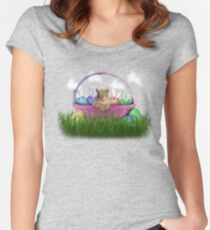 Easter Squirrel Women's Fitted Scoop T-Shirt