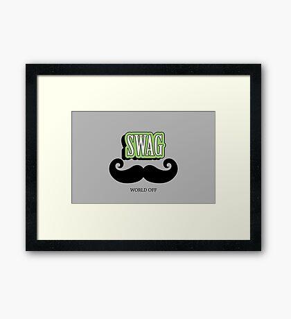 Swag a Mustache VRS2 Framed Print