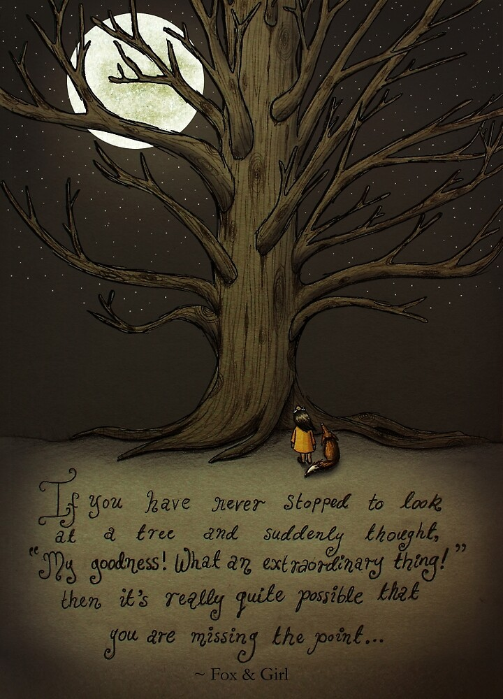 Trees (Fox and Girl) by Maia Walczak