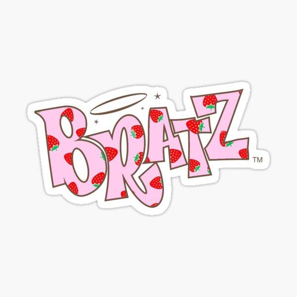 Autocollant de logo Bratz imprimé aux fraises Sticker