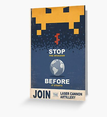 Join the Laser Canon Artillery Greeting Card